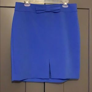 Banana Republic Blue Pencil Skirt with Bow Detail